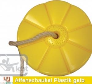 Tellerschaukel, Affenschaukel aus Kunststoff in gelb TÜV-GS gepr