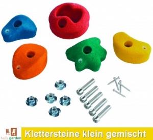 Klettersteine 5 Stück Größe klein in 5 Farben gemischt