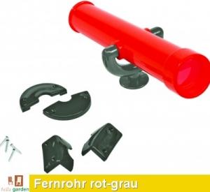 Teleskop - Fernrohr in rot/grau TÜV geprüft