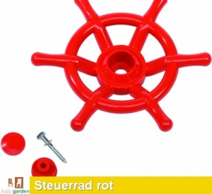 Steuerrad, Lenkrad Schiff in rot TÜV geprüft