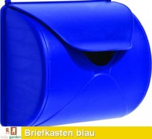 Briefkasten in blau TÜV geprüft