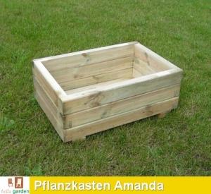 Pflanzkasten aus Kiefernholz Modell AMANDA
