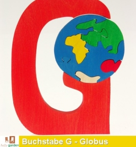 Holzbuchstabe G als Puzzle