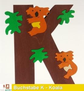 Holzbuchstabe K als Puzzle