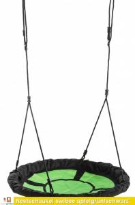 Nestschaukel - Swibee - apfelgrün/schwarz von KBT TÜV-GS geprüft