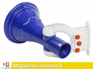 Megaphon in blau/weiß