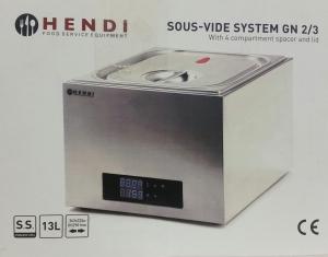 Hendi Sous Vide System GN 2/3 Dampfgarer 22526