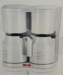 Severin KA 5827 Duo Kaffeeautomat mit Thermokannen weiß