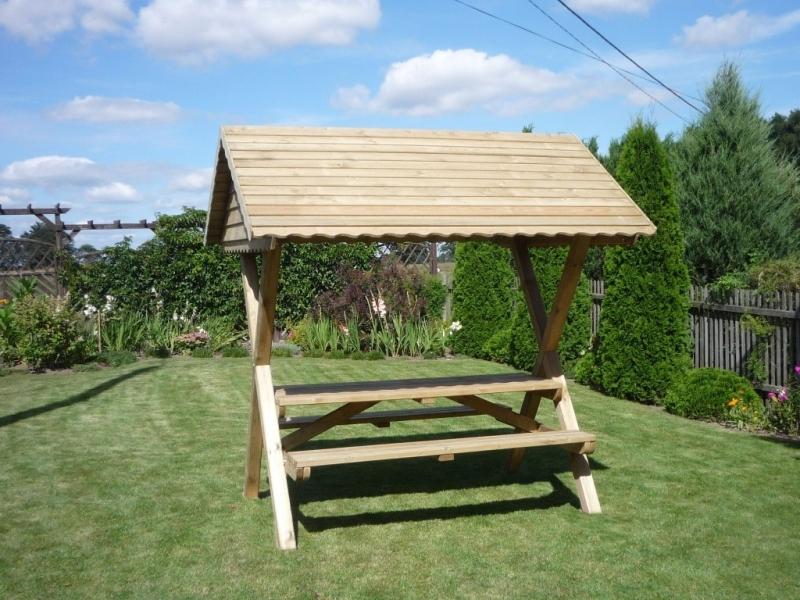 biergartengarnitur mit dach modell dominik. Black Bedroom Furniture Sets. Home Design Ideas