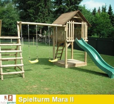 spielturm mit rutsche modell mara ii kletterturm stelzenhaus. Black Bedroom Furniture Sets. Home Design Ideas