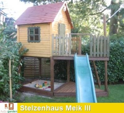 Turbo Stelzenhaus - Spielturm als Boot Meik mit Schaukel und Rutsche DX84