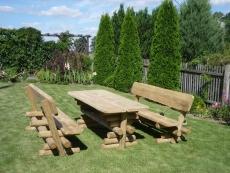 Gartenmöbel Garnitur Modell BARNI 200cm, massive Ausführung