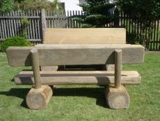 Gartenmöbel Garnitur Modell FRED 200cm, sehr massive Ausführung