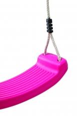 Schaukelsitz aus geblasenem Kunststoff in pink TÜV-GS geprüft