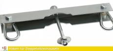 Haken für Doppelsitz - Nestschaukeln aus verzinktem Stahl