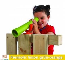Teleskop - Fernrohr in limon grün/orange TÜV geprüft