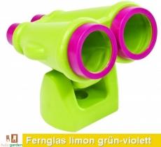 Fernglas aus HDPE in limon grün/violett TÜV geprüft