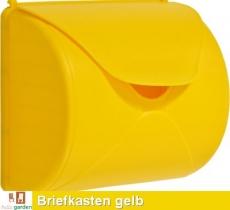 Briefkasten in gelb TÜV geprüft