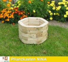 Massiver Pflanzkasten aus imprägniertem Kiefernholz Modell NINA