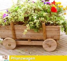Pflanzwagen, Pflanzkarren aus imprägniertem Kiefernholz