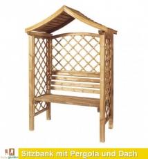 Sitzbank mit Pergola und Dach