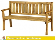 Gartenbank aus imprägniertem Kiefernholz
