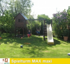 Stelzenhaus MAX maxi mit Schaukel und Rutsche