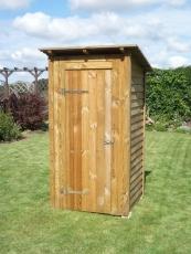 Toilettenhaus, Geräteschuppen mit Pultdach / Flachdach