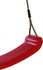 Schaukelsitz aus geblasenem Kunststoff in rot TÜV-GS geprüft