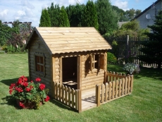 Spielhaus - Kinderspielhaus mit Veranda, Modell TOM