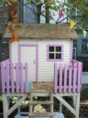Stelzenhaus - Spielhaus  - Kinderspielhaus Tom auf Stelzen
