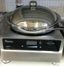 Hendi Gastro Digital Wok-Set Induktion Wok-Pfanne Induktionskoch