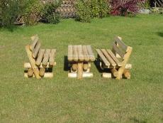 Sitzgruppe Rundholz für Kinder Wilmar 120cm