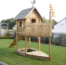 Stelzenhaus - Spielturm als Boot Meik I