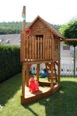 Stelzenhaus  - Spielturm als Boot Meik II
