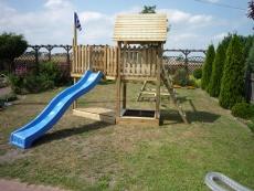 Stelzenhaus - Spielturm Meik mini mit Schaukel und Rutsche