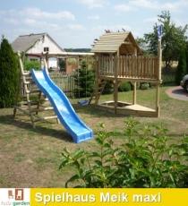 Stelzenhaus - Spielturm Meik maxi mit Schaukel und Rutsche